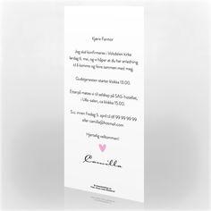 Invitasjon konfirmasjon, 200411 Personalized Items