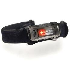 Fred Headlamp, Black, 45 lm, w-Red LED