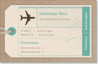 Blaue Graue Standard-Visitenkarten