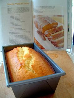 Lemon Yogurt Cake from The Barefoot Contessa. It looks like a giant piece if cornbread.Lemon Yogurt Cake from The Barefoot Contessa. It looks like a giant piece if cornbread. Lemon Desserts, Lemon Recipes, Sweet Recipes, Dessert Recipes, Loaf Recipes, Asian Recipes, Lemon Yogurt Cake, Siggis Yogurt, Greek Yogurt Cake