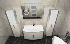 Praca konkursowa z wykorzystaniem mebli łazienkowych z kolekcji ROUND #naszemeblenaszapasja #elitameble #meblełazienkowe #elita #meble #łazienka #łazienkaZElita2019 #konkurs Toilet, Bathroom, Design, Washroom, Litter Box, Bathrooms, Flush Toilet, Powder Room