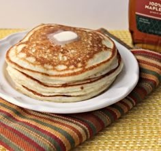 Amazing Buttermilk Pancakes    The absolute best from-scratch buttermilk pancake recipe to be found!  #pancakes #breakfast
