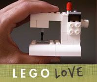 Very cool! Lego sewing machine. Legos for girls (and boys) and they aren't pink!