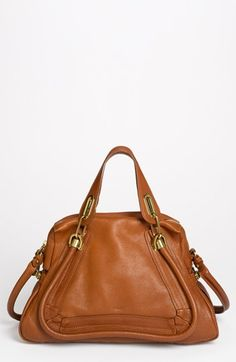 $1,950, Tobacco Leather Satchel Bag: Chloé Chloe Paraty Medium Leather Satchel. Sold by Nordstrom.