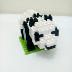 Un piccolo #panda a casa mia 🐼 ❤ #nanoblock #creativity #nature #love #animal #toy