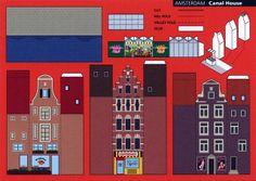 Make City, Amsterdam, Canal House - Cut Out Postcard | Flickr: Intercambio de fotos