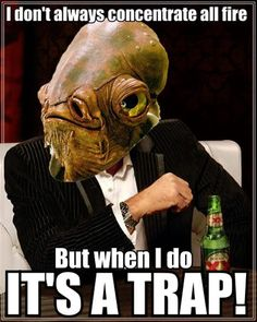 Admiral Ackbar is the most interesting Mon Calamari in the galaxy. Admiral Ackbar, Anime Traps, Han And Leia, Word Nerd, Star War 3, The Force Is Strong, Star Wars Poster, Star Wars Humor, Love Stars