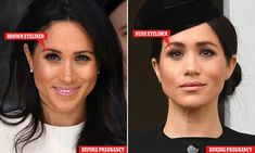 The VERY clever make-up trick pregnant Meghan Markle uses to disguise tired eyes Meghan Markle Nose Job, Meghan Markle Hair, Meghan Markle Style, The Tig Meghan Markle, Meghan Markle Wedding, Makeup Tricks, Megan Markle Makeup, Meghan Markle Skincare, Meghan Markle Plastic Surgery