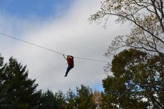 (Asheville Zipline Canopy Adventures, Asheville, NC) Could be a fun family thing when Aden is older