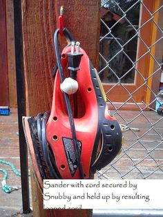 Snubby secures electric cord wrapped around power by homeinnovate