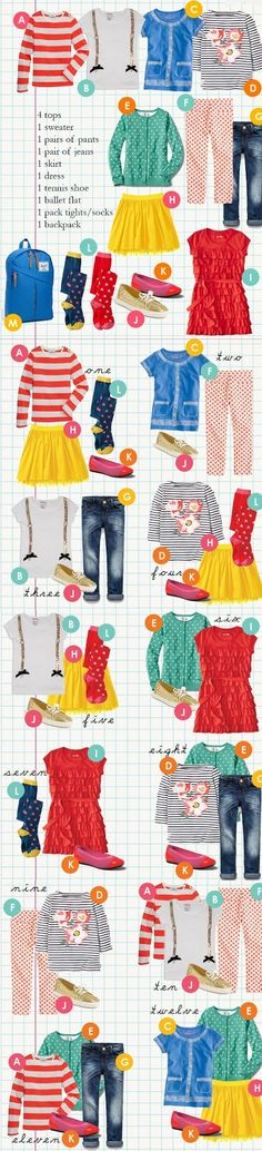 Essentials: 12 Key Pieces to Build a Dozen Outfits for a Girl