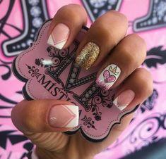 New Nail Art, Cute Nail Art, Cute Nails, Pretty Nails, Beautiful Nail Designs, Cute Nail Designs, Hair And Nails, My Nails, Perfect Nails