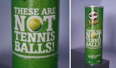 Pringles - Ambush Marketing i pacchetti di patatine distribuiti a Wimbledon da Pringles senza nessun accordo di sponsorizzazione #ambush marketing