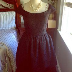Jessica Simpson black dress Beautiful short sleeve bubble skirt dress by Jessica Simpson. Jessica Simpson Dresses