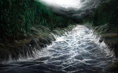 Raging River by Alexvanderlinde on DeviantArt Fantasy Landscape, Fantasy Art, Dungeons And Dragons, Wonders Of The World, Rage, Waterfall, Scenery, Digital Art, Deviantart