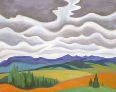 Storm Clouds in the Foothills, 1999 by Doris McCarthy on Curiator, the world's biggest collaborative art collection. Canadian Painters, Canadian Artists, Silk Painting, Painting & Drawing, Digital Museum, Silk Art, Collaborative Art, Mountain Paintings, Storm Clouds