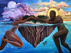 Ideas man and woman love art god Black Girl Art, Art Girl, Arte Black, Black Art Pictures, Art Africain, Black Artwork, Desenho Tattoo, Afro Art, Dope Art