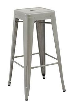 Taburete metalico apilable vintage para exterior pintado aluminio HKM003 EUROSILLA http://www.amazon.es 69€