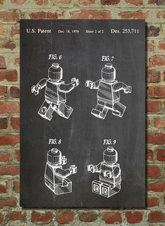 Lego Mini Figure Poster, Lego Mini Figure Patent, Lego Mini Figure Print, Lego Mini Figure Art, Lego Mini Figure Blueprint