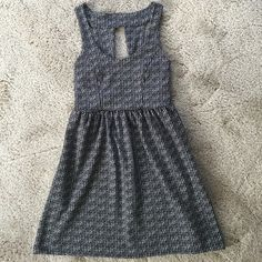 Urban Outfitters Patterned Skater Dress Silence + Noise brand. Mini dress with cutout back. Black/White pattern. Good condition. Worn a few times. Urban Outfitters Dresses Mini