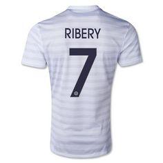 Men's World Cup 2014 France Franck Ribéry White Away Soccer Jersey (US Size Medium) France Soccer Jersey, France Jersey, France National Football Team, Fifa World Cup France, World Cup Shirts, Mens World Cup, Word Cup, World Cup 2014, Football Shirts