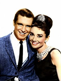 """George Peppard and Audrey Hepburn """"Breakfast at Tiffany's"""" (1961)"""