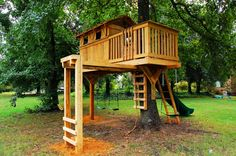 treehouse with monkey bars
