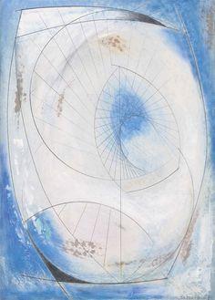 Barbara Hepworth (British, Turning Form (Atlantic), Oil and pencil on gesso-prepared board, 63 x 45 cm. Natural Form Artists, Natural Forms, Barbara Hepworth, Abstract Sculpture, Wood Sculpture, Metal Sculptures, Bronze Sculpture, Sculpture Ideas, Abstract Art