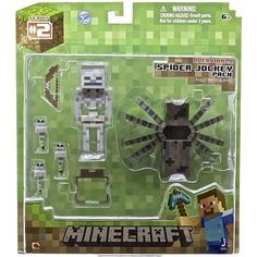 Purchase Minecraft Spider Jockey Pack Fully Articulated Figure from Partytoyz Inc. Share and compare all Toys. Minecraft Toys, Minecraft Crafts, Minecraft Party, Minecraft Houses, Minecraft Stuff, Steve Minecraft, Mojang Minecraft, Minecraft Bedroom, Minecraft Furniture