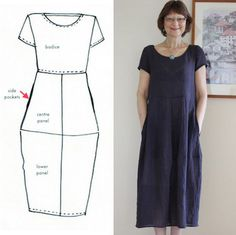 Amazing Sewing Patterns Clone Your Clothes Ideas. Enchanting Sewing Patterns Clone Your Clothes Ideas. Linen Dress Pattern, Shift Dress Pattern, Dress Sewing Patterns, Sewing Patterns Free, Free Sewing, Clothing Patterns, Linen Tunic, Pattern Sewing, Fashion Fabric