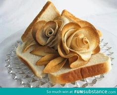 Food Design Bread Art and This Amazing Food Design Blow Your Mind Pan Focaccia, Cute Food, Good Food, Bread And Roses, No Rise Bread, Bread Art, Edible Art, How To Make Bread, Creative Food