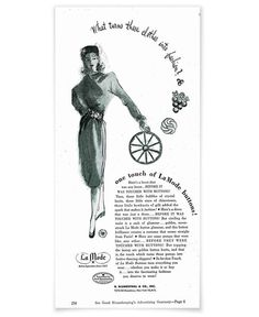 ButtonArtMuseum.com - Touch of La Mode Buttons Ad in Good Housekeeping circa 1935
