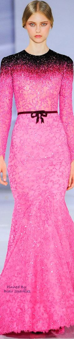 FALL COUTURE 2015 GEORGES HOBEIKA. V Beauty And Fashion, Pink Fashion, Couture Fashion, Love Fashion, Couture 2015, Georges Hobeika, Elie Saab, Elegant Dresses, Nice Dresses