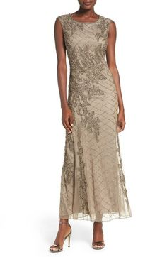 For one of the Moms? Pisarro Nights Beaded Mesh Gown (Regular & Petite) available at #Nordstrom