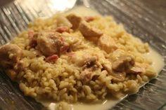 Poulet au reblochon au Cookéo - La cuisine et les voyages de Pripri Mets, Fried Rice, Risotto, Fries, Chicken, Ethnic Recipes, Food, Courses, Minute