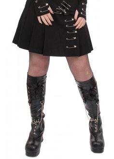 Necessary Evil Safety Pin Mini Skirt