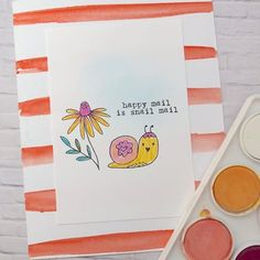 Playing with watercolors! 💦💦💦 #florafaunaclear #cardmaking #snailmail #snailmailrevolution #watercolor #handmadecards #papercraft #happymonday #mail