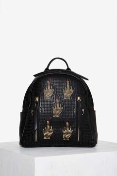 Vanity Life F-U Studded Backpack