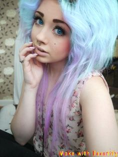 So I'm absolutely sure this is an edit but even though this isn't the real hair color, I absolutely love it. Blue and purple hair