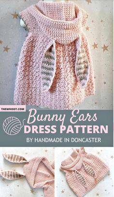 Crochet Rabbit, Crochet Bebe, Crochet Girls, Crochet Baby Clothes, Crochet Woman, Crochet For Kids, Knit Crochet, Crochet Hats, Crochet Funny Hat