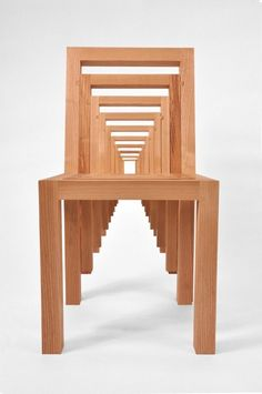 Inception Chair by Vivian Chiu    Many Likes in the lead, the space-efficient Inception Chair is 10 progressively smaller chairs nested as one.