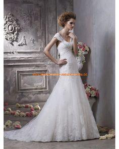 Elegantes und Uniques Brautkleid im Meerjungfrauenstil mit kurz Ärmel 2013