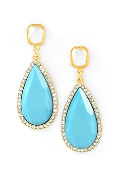 Amberly Earrings in Soft Turquoise
