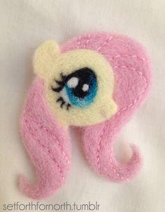 Felt Fluttershy from My Little Pony: Friendship is Magic via Euphoria Pony