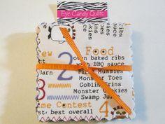 THE BOO CREW Moda Halloween Mini Charm Pack Moda by EyeCandyQuilts, $3.49