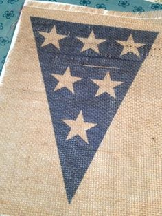 how to print on burlap:  Two It Yourself: 4th of July burlap party banner decoration (Pottery Barn knockoff on the cheap)
