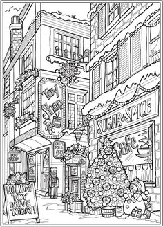 Detailed Coloring Pages, Free Adult Coloring Pages, Cute Coloring Pages, Doodle Coloring, Animal Coloring Pages, Coloring Books, Coloring For Adults, Dover Coloring Pages, Christmas Coloring Sheets