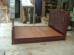 Handcrafted bed from Jaipur