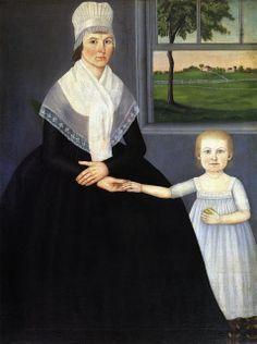 John Brewster Jr. (American Painter, 1766-1854) Lucy Knapp Mygatt and Her Son George 1799