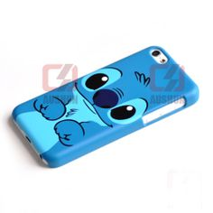 Blue Cute Stitch Hard Plastic Back Cover CASE for iPhone 5C